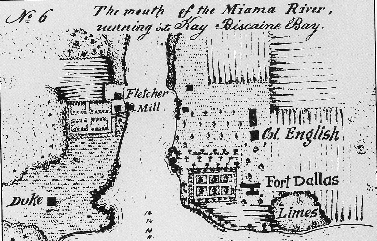 Us Survey Map Of The Mouth Of The Miami River From 1849 From Before The Return Of The Troops